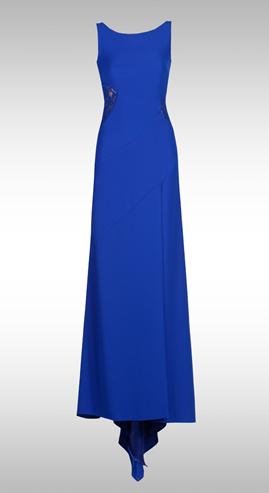 adilışık Yırtmaçlı Kolsuz Uzun Elbise