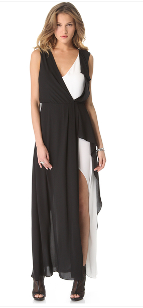 BCBGMAXAZRIA Black Yuliana Dress