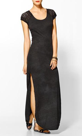 FREE PEOPLE Black Maxi Lace Dress
