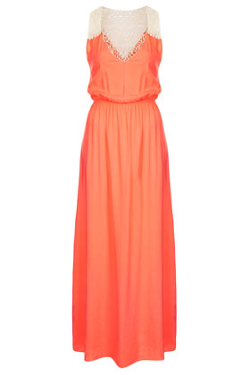 topshop tangerine maxi cover up