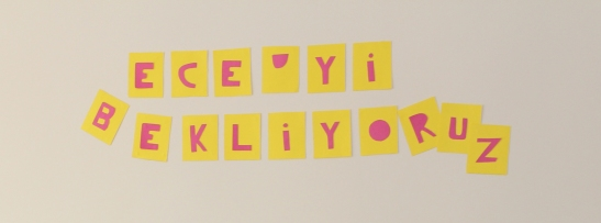 baby shower duvar yazısı