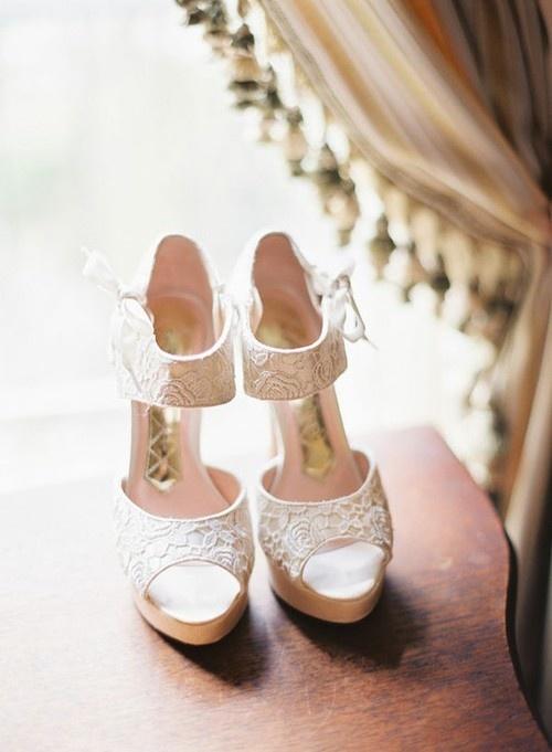 dantelli gelin ayakkabısı