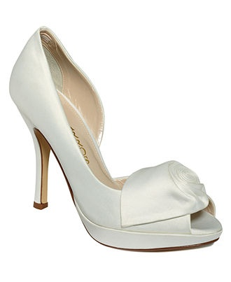 macys White wedding shoes